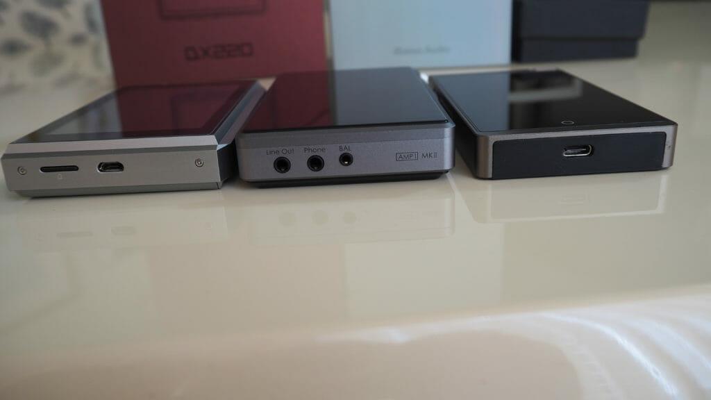 左からOPUS #3、DX220、i5